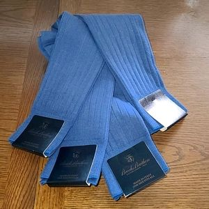 4 10 to 13 Brooks Brothers cotton Aqua blue socks